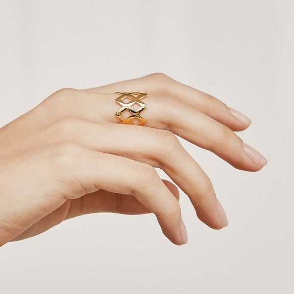 King gold ring hand 2
