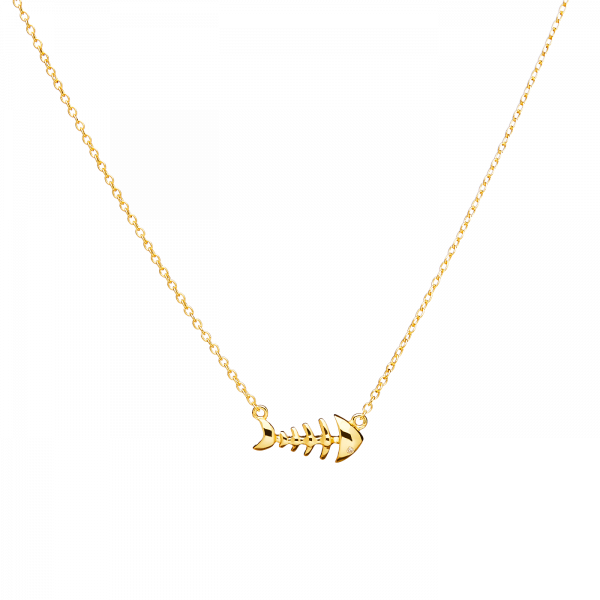Pesce gold necklace