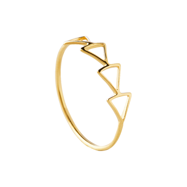 Hollow gold ring