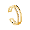 Stripe gold ring