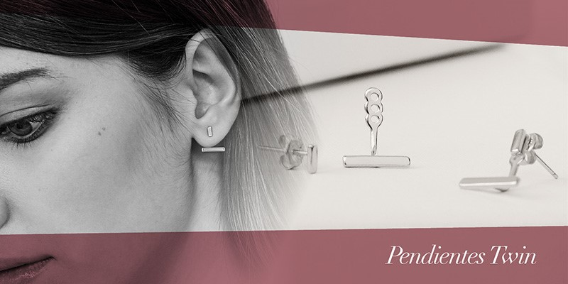 Pendientes Ear Jacket Twin